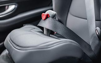 El cuarto punto de anclaje del cinturón, para mayor seguridad