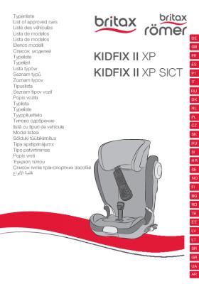 Vehículos homologados KIDFIX II XP/SICT