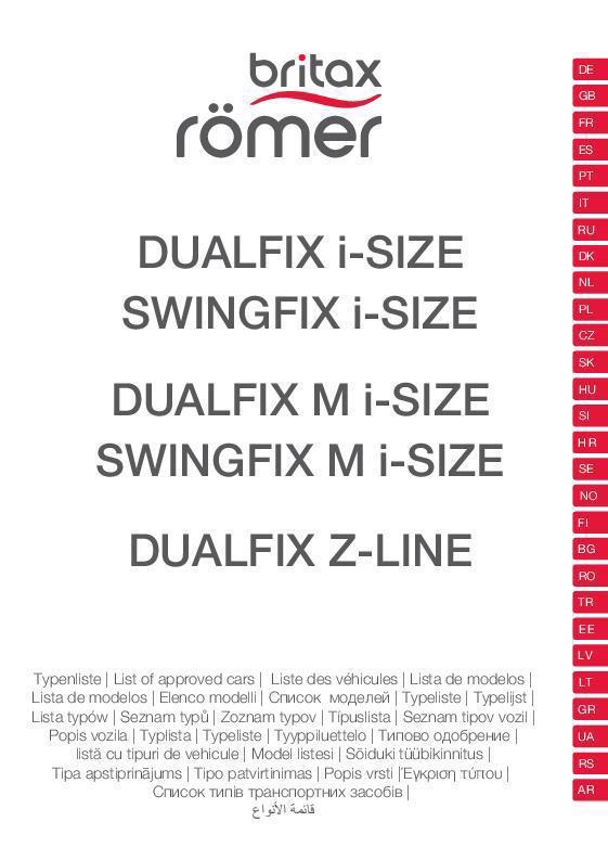 Vehículos compatibles DUALFIX/SWINGFIX i-SIZE