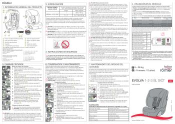 Instrucciones Evolva 1-2-3 SL SICT