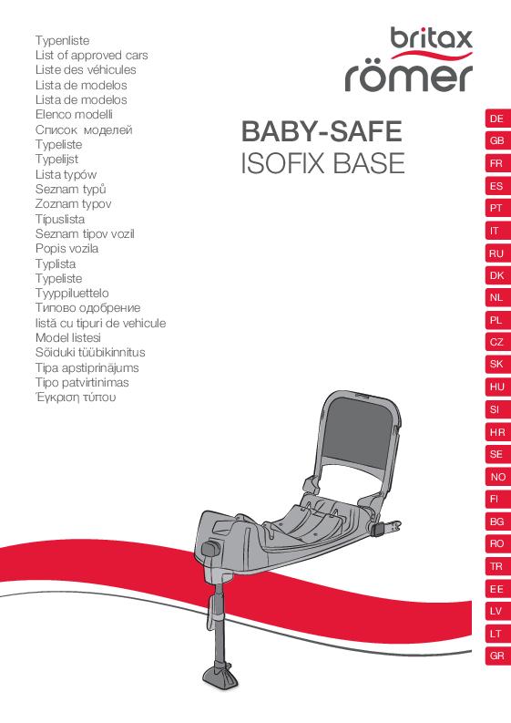 Vehículos homologados Base Isofix Baby-Safe