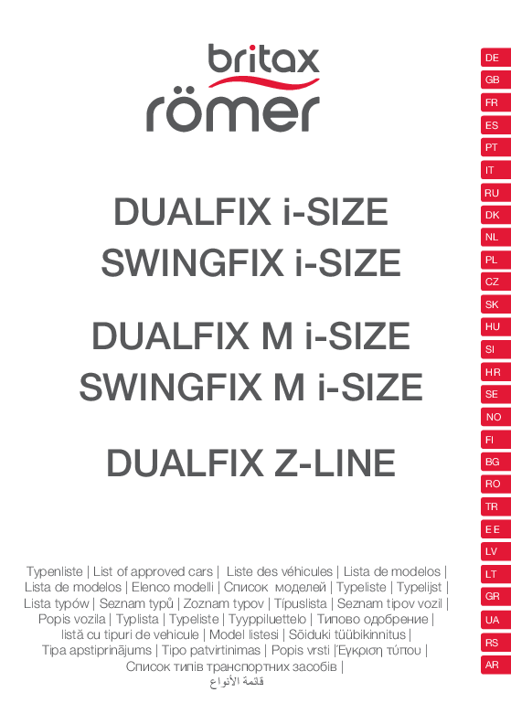 Vehículos homologados Swingfix i-Size M