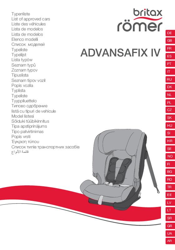 Vehículos Homologados ADVANSAFIX IV