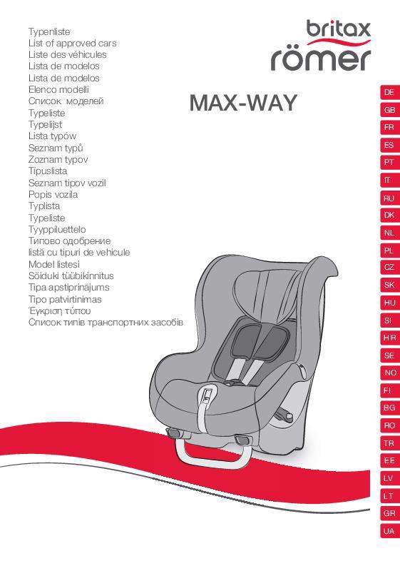 Lista de vehículos MAX-WAY