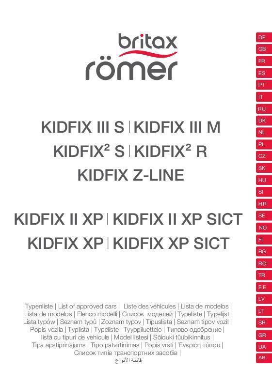 Vehículos compatibles KIDFIX 2/III